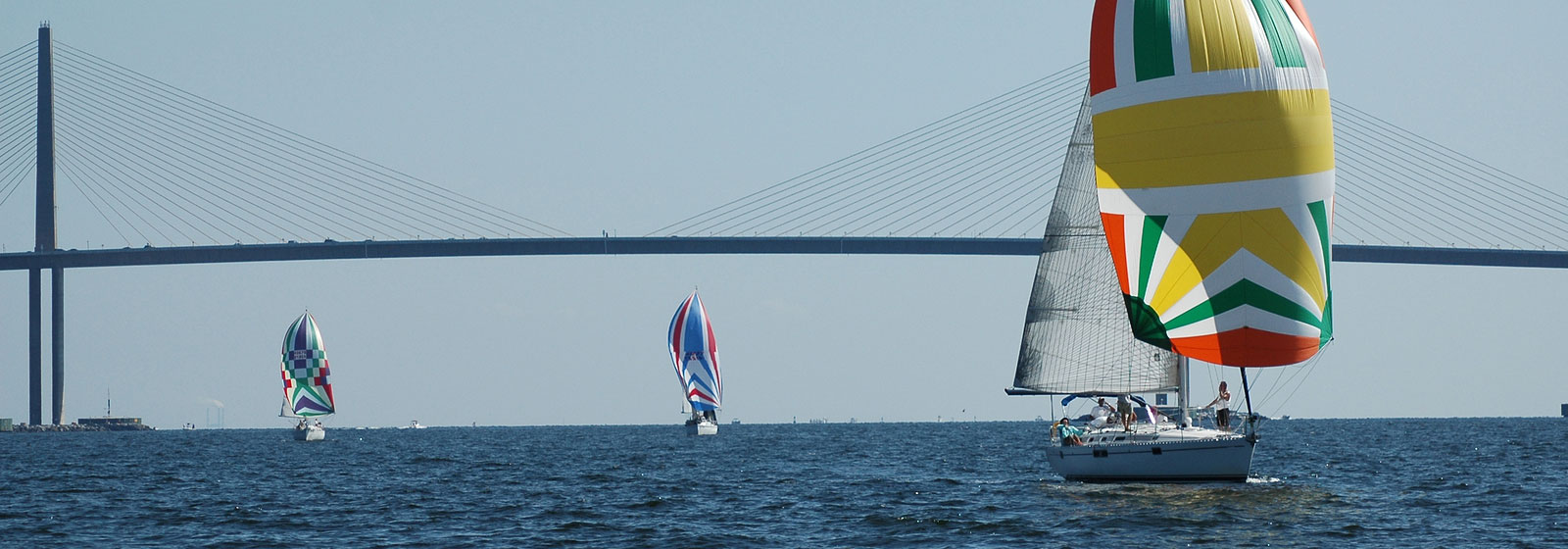 Yachts Racing by Skyway Bridge